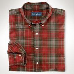 Classic-Fit Plaid Oxford - Big & Tall Oxford Shirts - Ralph Lauren UK