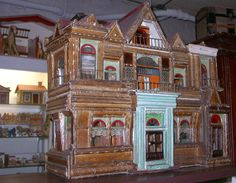 Antique Toy Museum Baltimore Collection of Anne Smith Antique Dollhouse, Wooden Dollhouse, Dollhouse Furniture, Victorian Dolls, Antique Toys, Old Toys, Doll Houses, Nursery Room, Baltimore