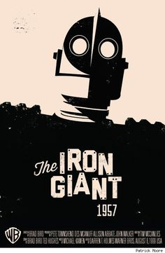 Movie poster for 'The Iron Giant', 1957 Poster Design, Graphic Design, The Iron Giant, Plakat Design, Culture Pop, Alternative Movie Posters, Love Movie, Cool Posters, Geeks