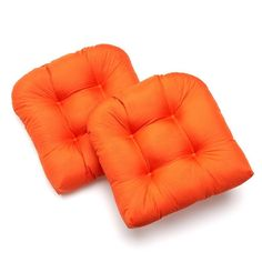 Edie Inc. Sonic Hexagon Indoor Outdoor 2-pk. Quilted Contour Chair Pads,