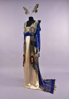 Worth butterfly fancy dress ca. 1912 From Whitaker Auctions -- click for more views