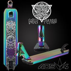 The Envy AOS V4 Max Peters Oil Slick Deck is an integrated scooter deck, which means that it has headset cups integrated into the headtube. While standard decks require a special headset press to inst