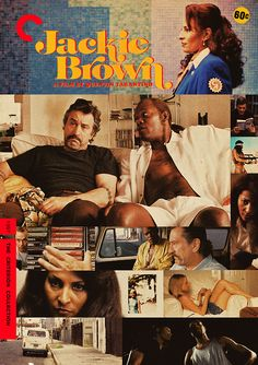 """Criterion Cover for Quentin Tarantino's """"Jackie Brown"""" QT's Homage to the famed Exploitation pictures of the is not what it seems. It's filled with sharp smart dialogue, great Los Angeles areas. Midnight Marauders, Quentin Tarantino Films, Jackie Brown, Kino Film, Poster S, Alternative Movie Posters, Film Serie, Cultura Pop, Pulp Fiction"""