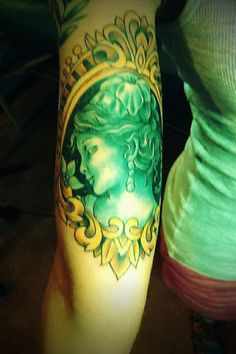 cameo tattoo in absinthe mood!