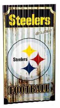 Pittsburgh Steelers Corrugated Metal Wall Sign