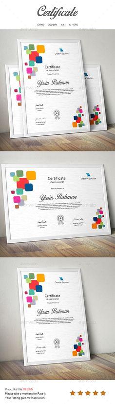 Multipurpose Certificate Certificate templates, Ai illustrator - certificate template download