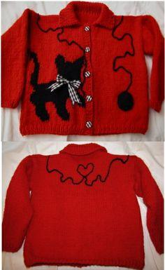 Knitting - Kitten Sweater for Scarlet Rose