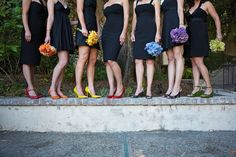 multi-colored bouquets
