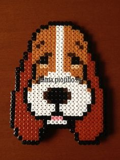 Basset Hound dog  hama beads by Ana y Santi