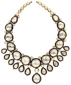Uncut diamonds in 18K gold necklace 2