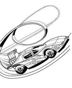 hot wheels track turn coloring page   kids coloring pages   pinterest