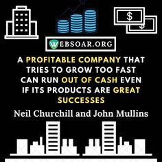 👉 Profitable company that tries to grow too fast can run out of cash even if it's products are great success ❌ Business Quotes, Business Tips, Run Out, Can Run, Knowledge, Success, Marketing, Canning, Products