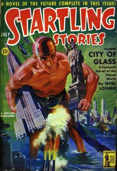 Startling Stories: Featuring 'City of Glass'.