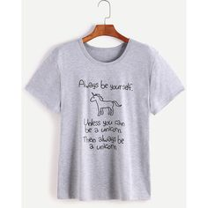 Heather Grey Slogan Print Short Sleeve T-shirt ❤ liked on Polyvore featuring tops, t-shirts, heather gray t shirt, print t shirts, pattern t shirt, patterned tops and heather grey t shirt