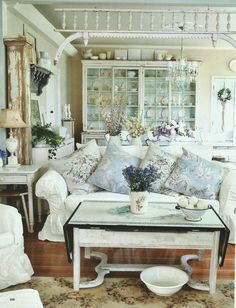 antique pieces and shabby chic coziness