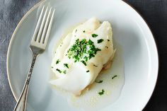 Dinner Tonight - Genius Baked Fish with Butter and Sherry: http://food52.com/blog/10415-baked-fish-creamed-spinach #Food52