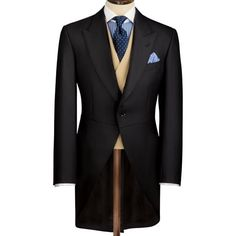 Buy our Morning Suit - Black exclusively from Charles Tyrwhitt of Jermyn Street, London. Morning Coat, Morning Dress, Gentlemans Club, Groom Morning Suits, Suit Shoes, Charles Tyrwhitt, Casual Look, Elegant Outfit, Gentleman Style