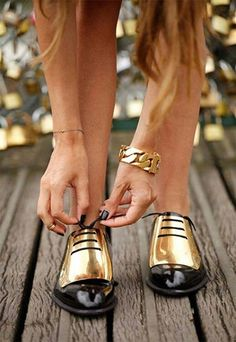 gold #shoes