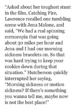 That would be so cute, a Joshifer baby. But what does she mean morning sickness bracelets?