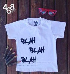 Camiseta Blah Blah Blah Branca