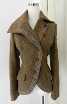 Alexander McQueen Brown Wool Riding Jacke