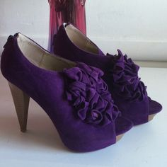 CLEARANCE PRICE Excellent condition Charlotte  Russe ruffle heels size 7. Sorry no box Charlotte Russe Shoes