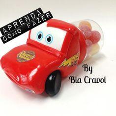 DIY - Enfeite de mesa do Relâmpago McQueen+Biscuit para iniciantes + Por...