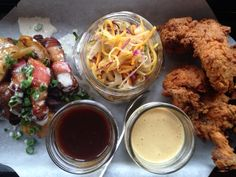 Fried Chicken at Fried Chicken, Fries, Deck, Dishes, Bar, Kitchen, Food, Cooking, Plate