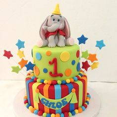 Dumbo themed birthday cake
