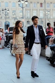 Olivia Palermo...Great looking couple too.