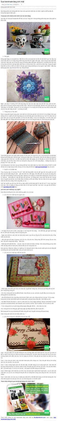 Quà handmade tặng sinh nhật https://muabannhanh.com/tag/qua-handmade-tang-sinh-nhat