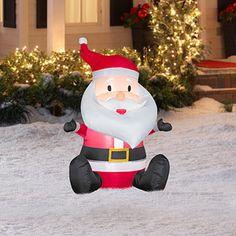 Gemmy Feet Light Up Airblown Inflatable Santa Claus with LED Lights * See this great product. Santa Christmas, Christmas Ornaments, Xmas, Seasonal Decor, Holiday Decor, Christmas Inflatables, Color Box, Santa Baby, Navidad