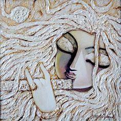 "Ananta, #AcryliconCanvas, 12"" X 12"", Lot No.: 74923, INR 20,000 / $361,http://goo.gl/1SJVHK"