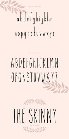 The Skinny is a sleek and simple handwritten font. Skinny Fonts, Hipster Fonts, Sans Serif Fonts, Art Drawings Sketches, Journaling, Bullet, Calligraphy, Lettering, Ceramic Art