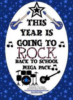 Rock And Roll Classroom Theme Back to School Pack - Make this school year rock with this mega pack! It is loaded with rock star classroom decorations, open house activities, first week activities, parent communication, and more! $