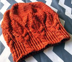 Fuego Hat by Justyna Lorkowska, knitted by Talvi | malabrigo Rios in Glazed Carrot