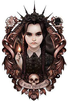 Anime Art Gothic Deviantart Ideas For 2019 Horror Disney, Horror Art, Goth Disney, Images Harry Potter, Adams Family, Wednesday Addams, Goth Art, Creepy Art, Halloween Art