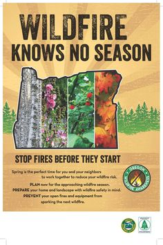 Wildfire knows no season : stop fires before they start by Oregon Department of Forestry and Keep Oregon Green