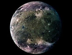 Ganymede Mosaic - the largest moon in the solar system