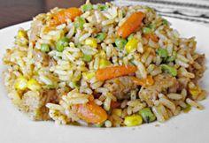 Rizoto s mäsom - Receptik. Shrimp Recipes Easy, Healthy Soup Recipes, Meat Recipes, Serbian Recipes, Hungarian Recipes, Paleo, Slow Cooker Soup, Food 52, Light Recipes