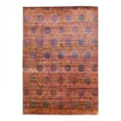 Aquasilk Overdyed Rug -10 x1 x14 4  An exotic motif is overdyed in a spectrum of saturated hues, forming a mesmerizing composition of iridescent patterns.