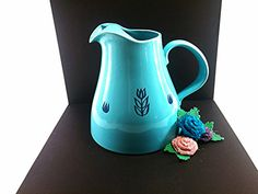 Cronin Pottery Pitcher. Blue Mid Century by VintageQuinnGifts