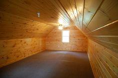 Finished, 14' x 32' upstairs bonus room