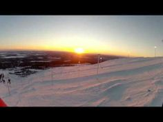 Skiing in Ylläs Lapland Independence Day weekend 2013.