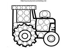 Coloriage tracteuràgommettesdessiné par nounoudunord…