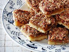 Pecan Pie Bars - AmandasCookin.com @amandaformaro