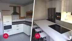 Reforma de cocina AK_04 en vidrio templado extra-blanco