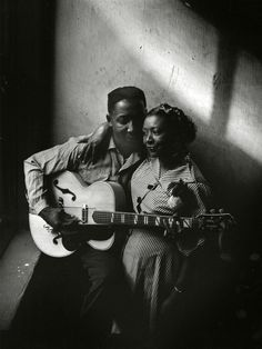 Muddy Waters and his wife Geneva in Chicago, 1951. Photographed by Art Shay.
