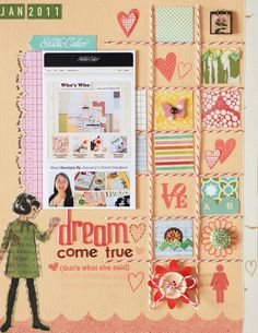 Dream come true - Geralyn's page!!! Bebe'!!! So cute...I adore this page!!! Everyone should have a dream page in their scrapbook!!!