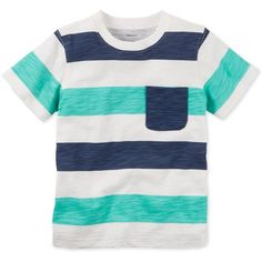 Carter's Toddler Boys' Mixed-Stripe T-Shirt ❤ liked on Polyvore featuring boy